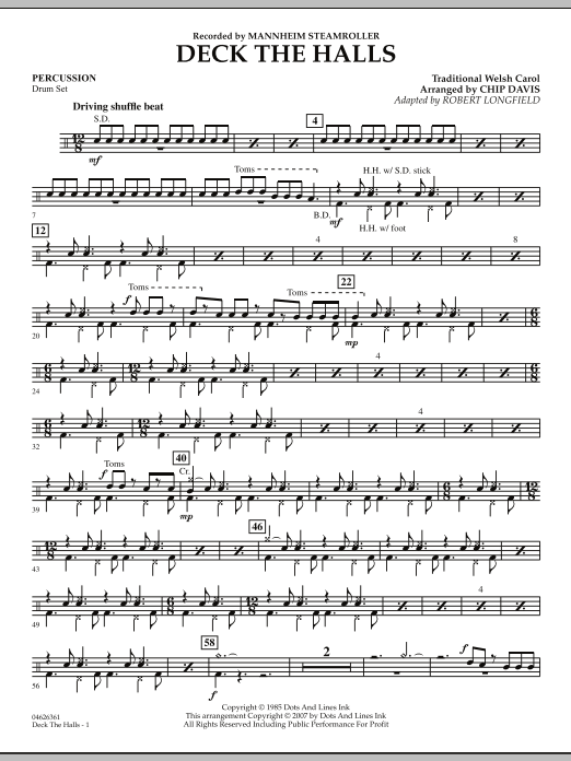 Deck the Halls (Mannheim Steamroller) - Percussion (Orchestra)