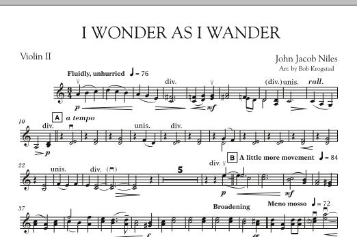 I Wonder As I Wander - Violin 2 (Orchestra)