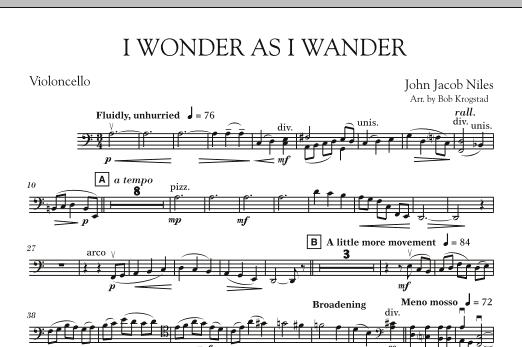 I Wonder As I Wander - Cello (Orchestra)