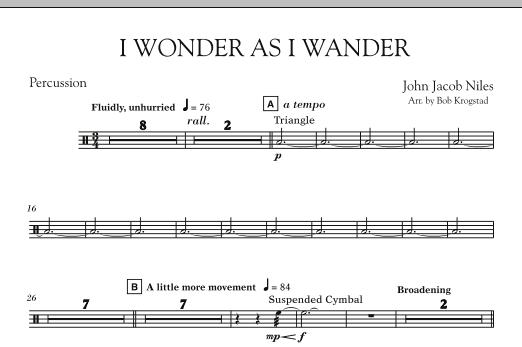 I Wonder As I Wander - Percussion (Orchestra)