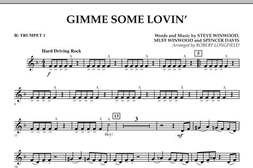 Gimme Some Lovin' - Bb Trumpet 1 (Concert Band)