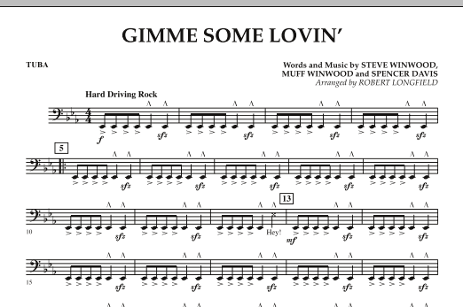 Gimme Some Lovin' - Tuba (Concert Band)