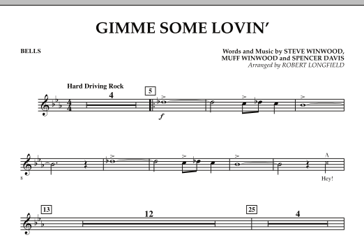 Gimme Some Lovin' - Bells (Concert Band)