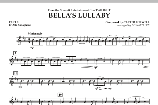 "Bella's Lullaby (from ""Twilight"") - Pt.2 - Eb Alto Saxophone (Flex-Band)"