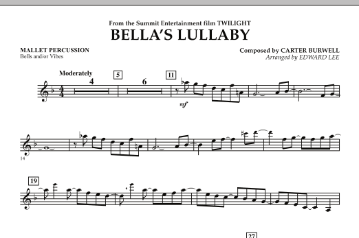 "Bella's Lullaby (from ""Twilight"") - Mallet Percussion (Flex-Band)"