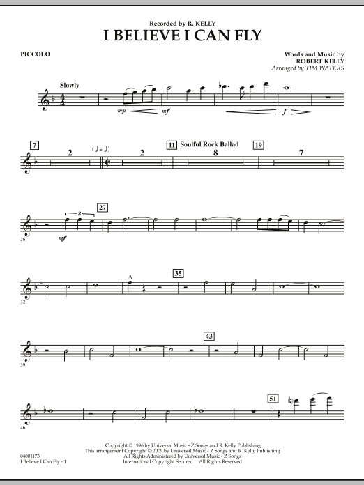 I Believe I Can Fly - Piccolo (Concert Band)