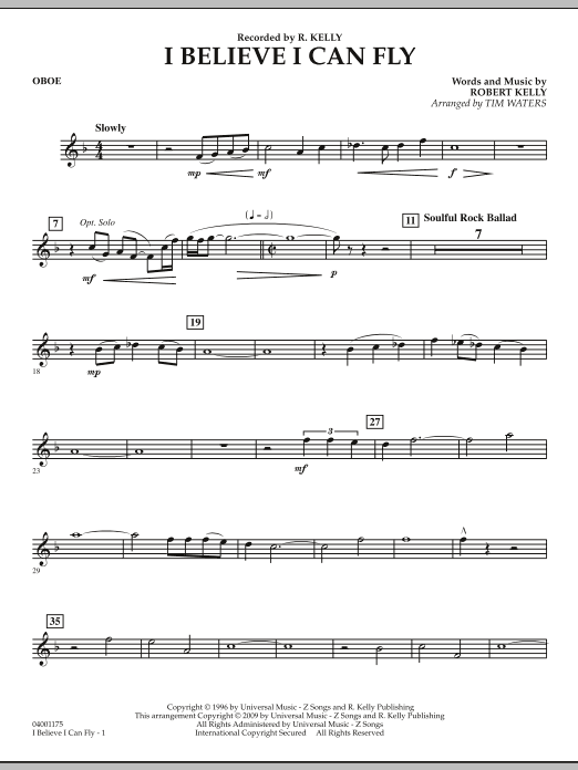 I Believe I Can Fly - Oboe (Concert Band)
