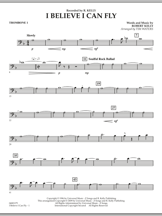I Believe I Can Fly - Trombone 1 (Concert Band)