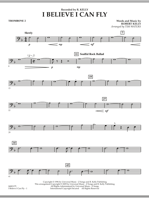 I Believe I Can Fly - Trombone 2 (Concert Band)
