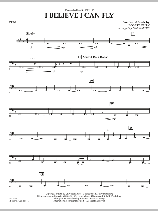 I Believe I Can Fly - Tuba (Concert Band)