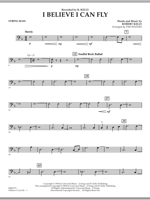 I Believe I Can Fly - String Bass (Concert Band)