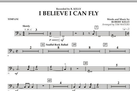 I Believe I Can Fly - Timpani (Concert Band)
