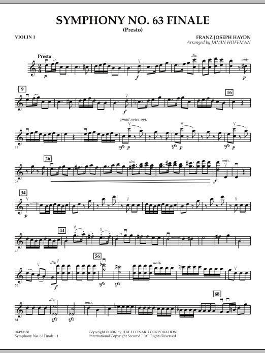 Symphony No. 63 Finale (Presto) - Violin 1 (Orchestra)
