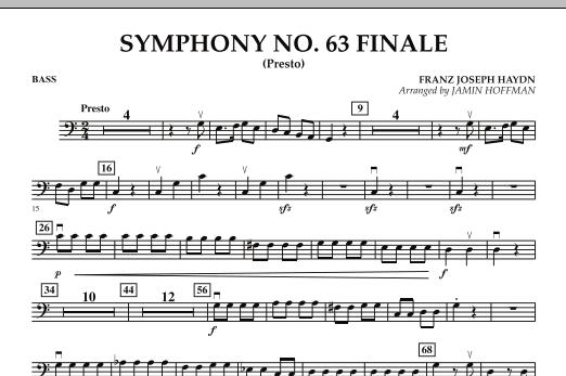 Symphony No. 63 Finale (Presto) - Bass (Orchestra)