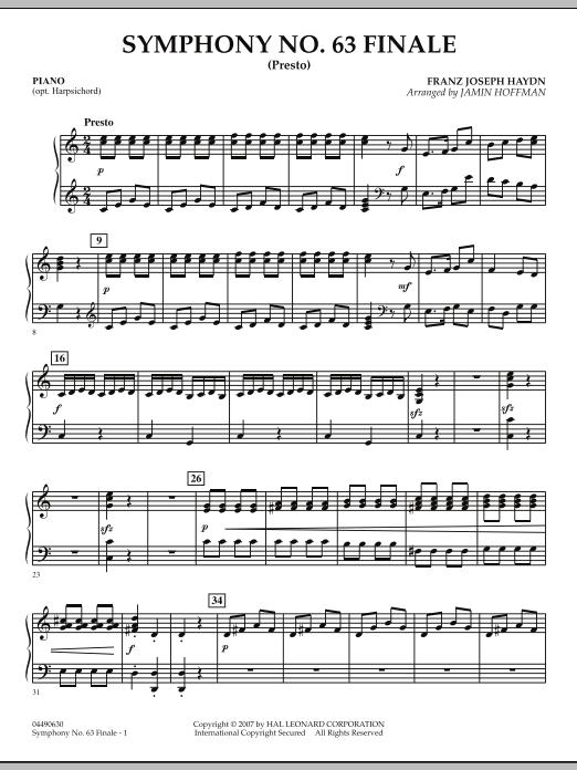 Symphony No. 63 Finale (Presto) - Piano (Orchestra)