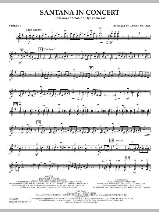 Santana in Concert - Violin 1 (Orchestra)