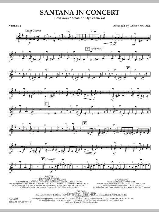 Santana in Concert - Violin 2 (Orchestra)