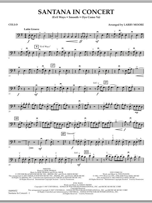 Santana in Concert - Cello (Orchestra)