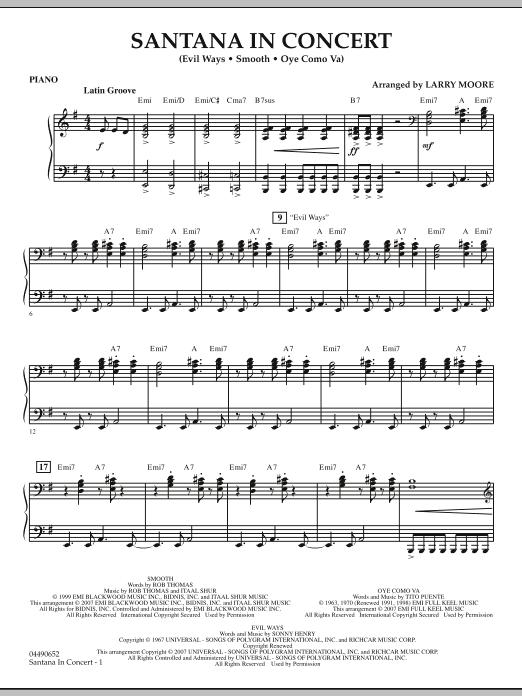 Santana in Concert - Piano (Orchestra)