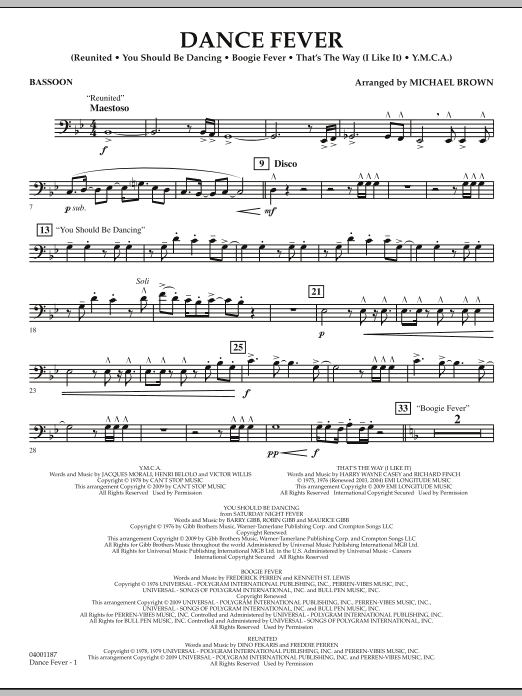 Dance Fever - Bassoon (Concert Band)