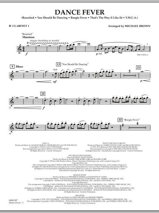 Dance Fever - Bb Clarinet 1 (Concert Band)