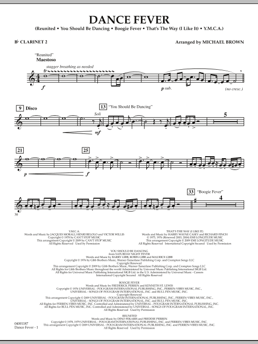 Dance Fever - Bb Clarinet 2 (Concert Band)
