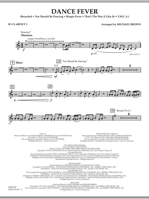 Dance Fever - Bb Clarinet 3 (Concert Band)