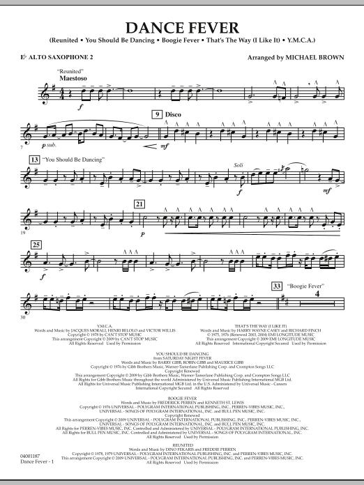 Dance Fever - Eb Alto Saxophone 2 (Concert Band)
