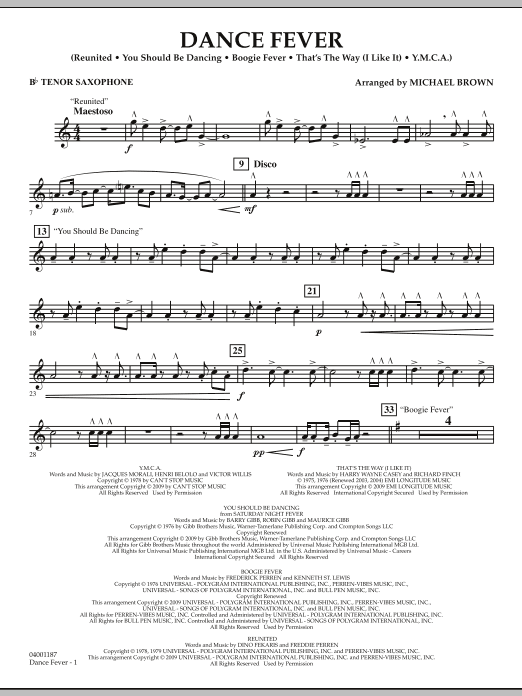 Dance Fever - Bb Tenor Saxophone (Concert Band)