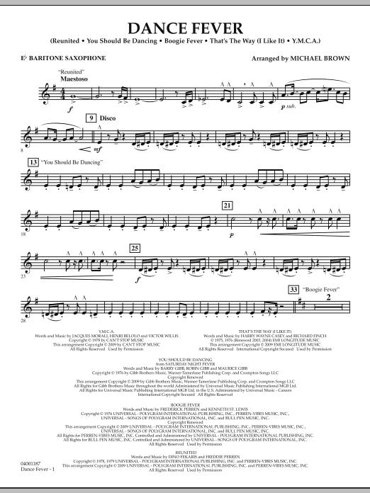 Dance Fever - Eb Baritone Saxophone (Concert Band)