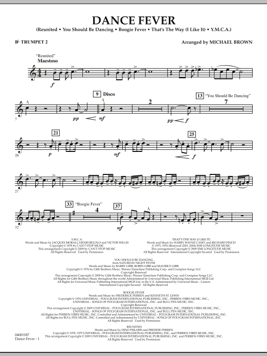 Dance Fever - Bb Trumpet 2 (Concert Band)