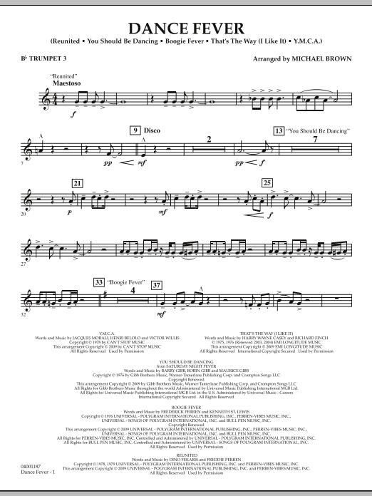 Dance Fever - Bb Trumpet 3 (Concert Band)