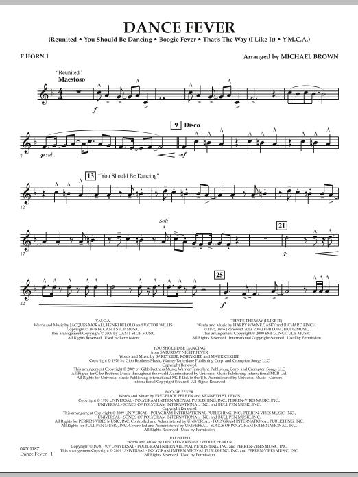 Dance Fever - F Horn 1 (Concert Band)