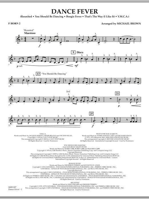 Dance Fever - F Horn 2 (Concert Band)