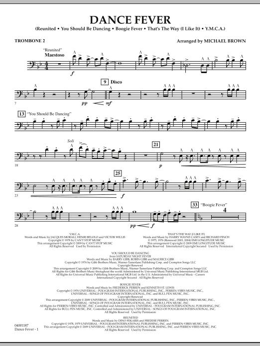 Dance Fever - Trombone 2 (Concert Band)