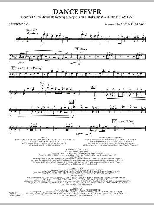 Dance Fever - Baritone B.C. (Concert Band)