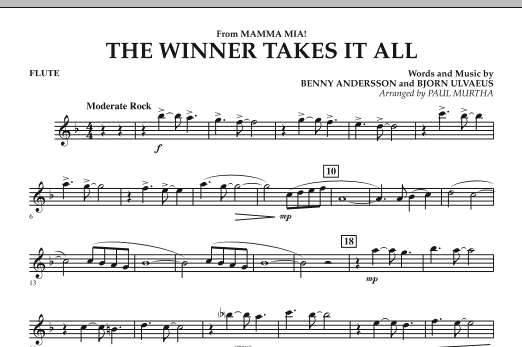 "The Winner Takes It All (from ""Mamma Mia!"" - The Motion Picture) - Flute (Concert Band)"