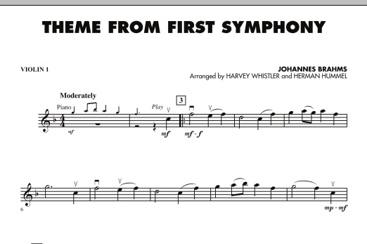 Theme from First Symphony - Violin 1 (Orchestra)