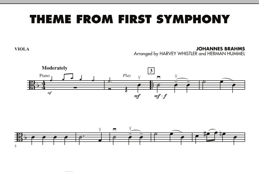 Theme from First Symphony - Viola (Orchestra)