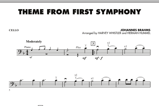 Theme from First Symphony - Cello (Orchestra)