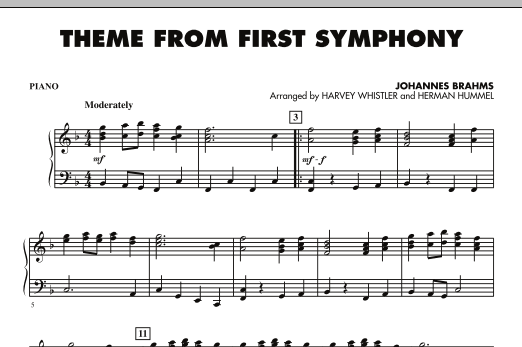 Theme from First Symphony - Piano (Orchestra)