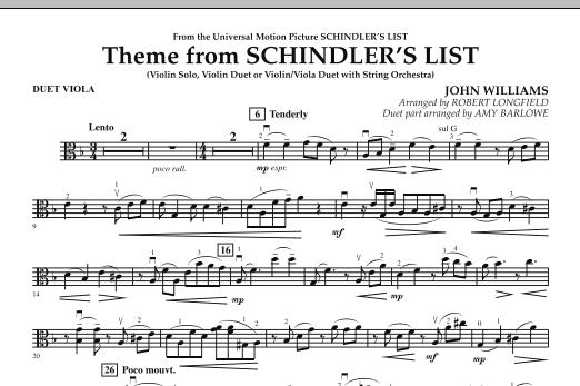 Theme from Schindler's List - Duet Viola (Orchestra)