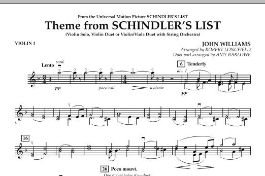 Theme from Schindler's List - Violin 1 (Orchestra)