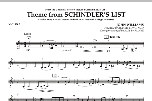 Theme from Schindler's List - Violin 2 (Orchestra)