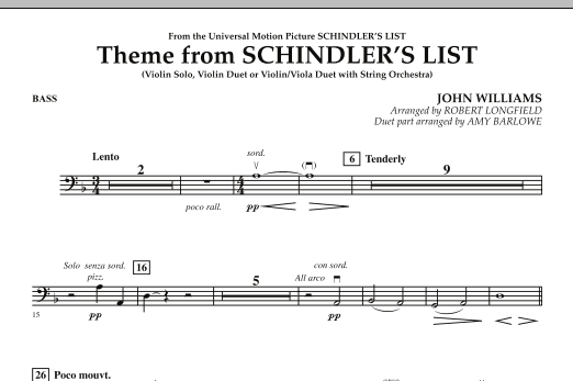 Theme from Schindler's List - Bass (Orchestra)