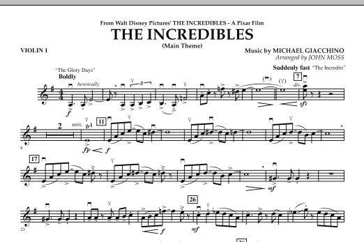 The Incredibles - Violin 1 (Orchestra)