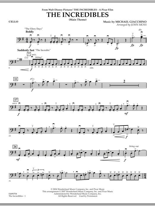 The Incredibles - Cello (Orchestra)