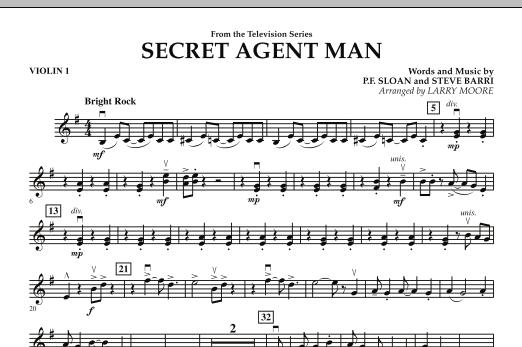 Secret Agent Man - Violin 1 (Orchestra)