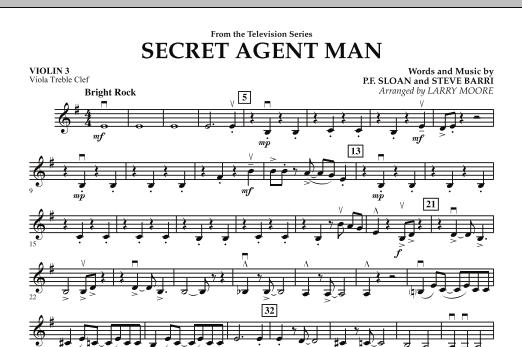 Secret Agent Man - Violin 3 (Viola Treble Clef) (Orchestra)