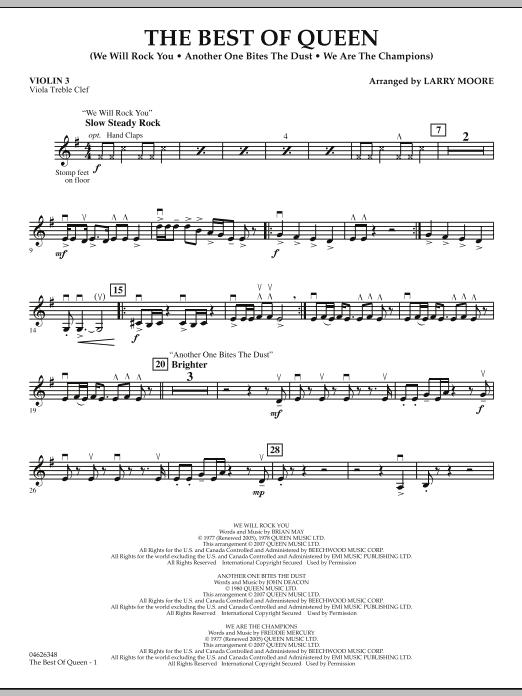The Best of Queen - Violin 3 (Viola Treble Clef) (Orchestra)